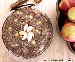 raw, vegan, gluten free apple pie