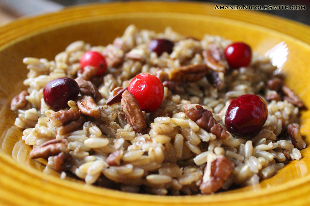 Cranberry Maple Pecan Oatmeal