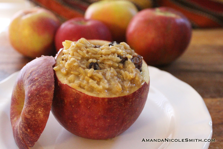 Oatmeal Stuffed Apple