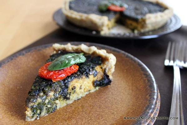 Mushroom-Spinach-Quiche-Slice