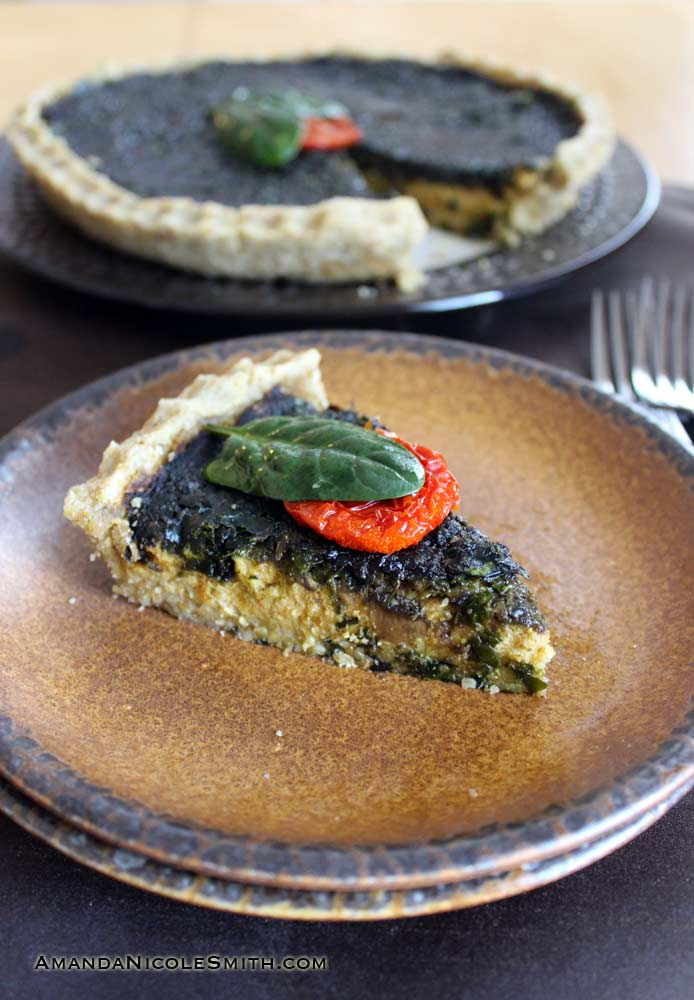 Mushroom-Spinach-Quiche Again