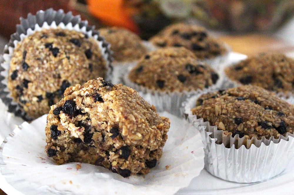 Raw Vegan Blueberry Banana Muffins