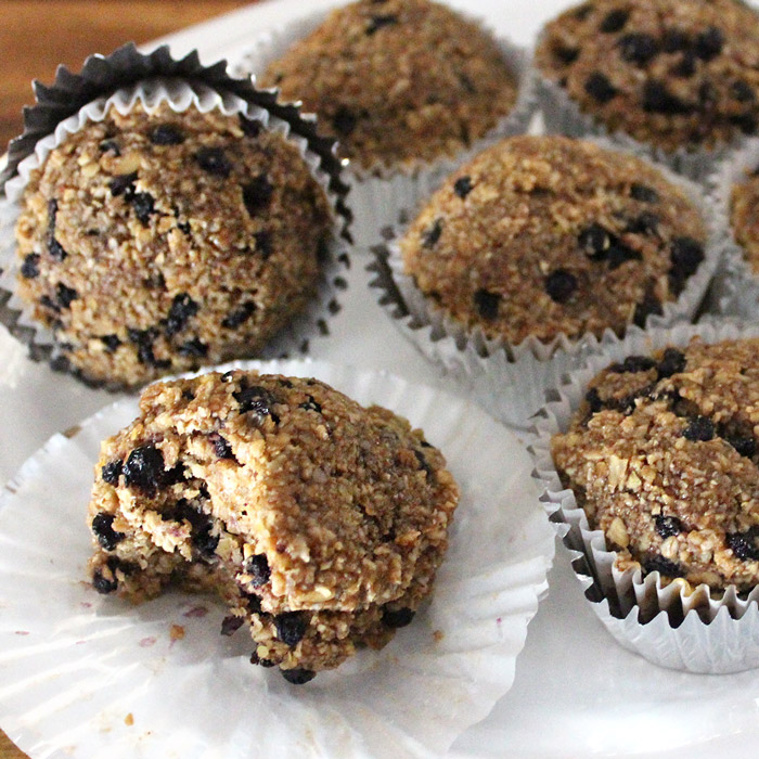 Raw Vegan Blueberry Muffins
