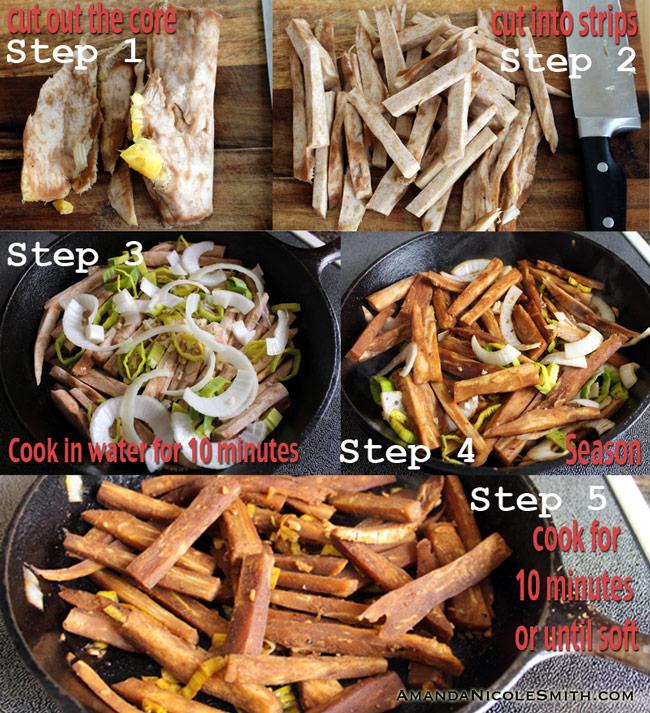 Jackfruit-Fajita-Process