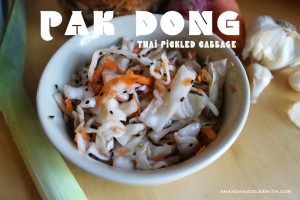 Pak Dong - fermented, cultured cabbage.