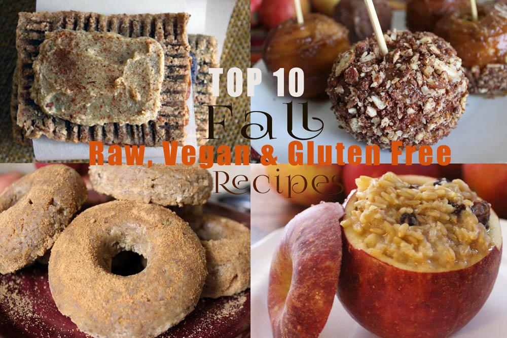top 10 fall raw vegan recipes