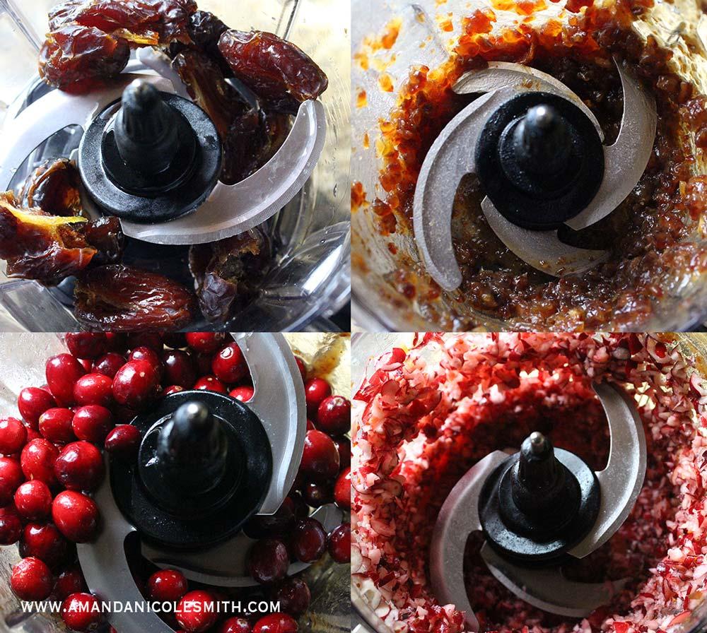 Raw Vegan Cranberry Sauce Process