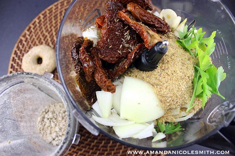 raw vegan meatloaf ingredients