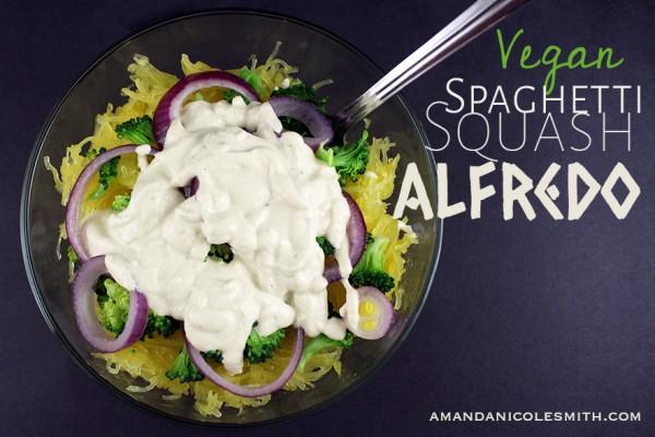 Vegan Spaghetti Squash Alfredo