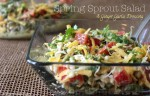 Spring Sprout Salad | Ginger Garlic Dressing