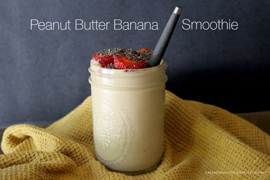 Simple Peanut Butter Banana Smoothie | Amanda Nicole Smith