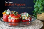 Raw Vegan Stuffed Peppers | Nacho Cashew Cheese