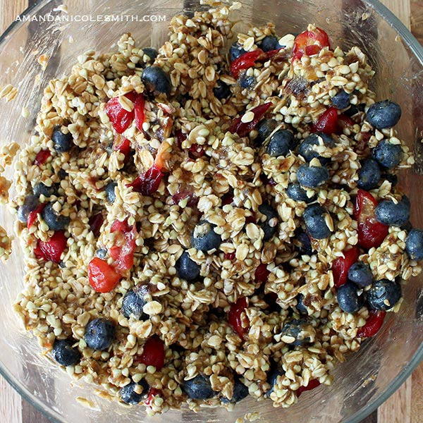 Sprouted Blueberry Cherry Granola Bar Prep