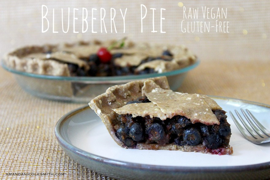 Raw Vegan Blueberry Pie with Crispy Crust