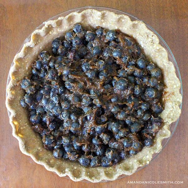 Raw Vegan Blueberry Pie