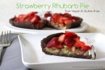 Strawberry Rhubarb Pie | Raw Vegan, Gluten Free