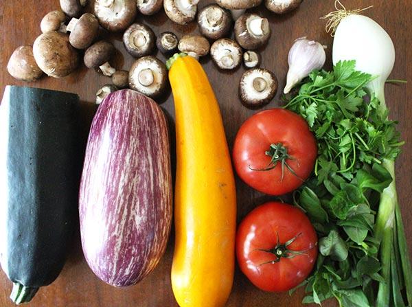 Raw Vegan Lasagna Ingredients