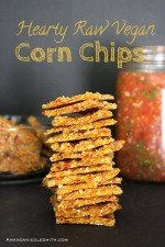 Hearty Raw Vegan Corn Chips
