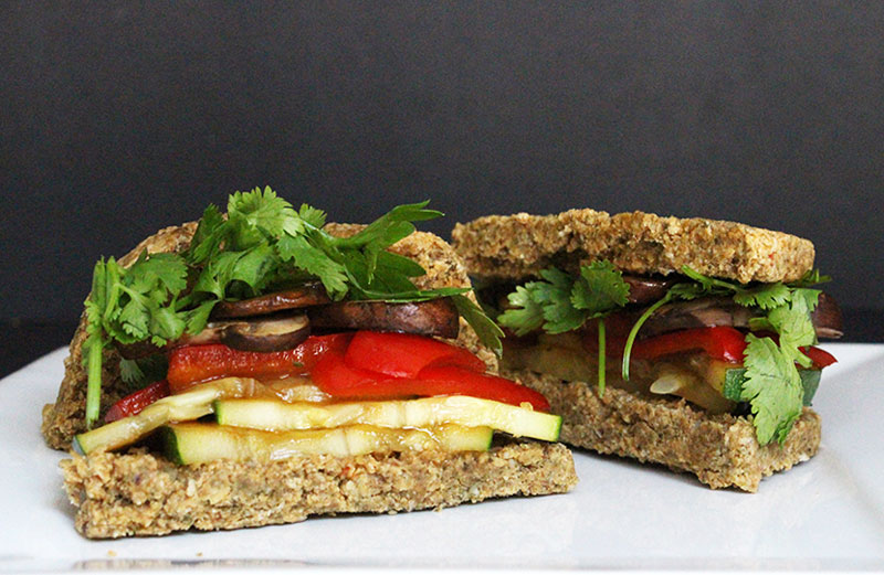 Raw Vegan Sandwich Bread
