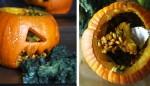 Halloween Pumpkin Bowls with Maggots and Vomit