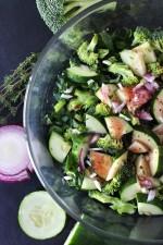 Simple Fall Veggie Salad