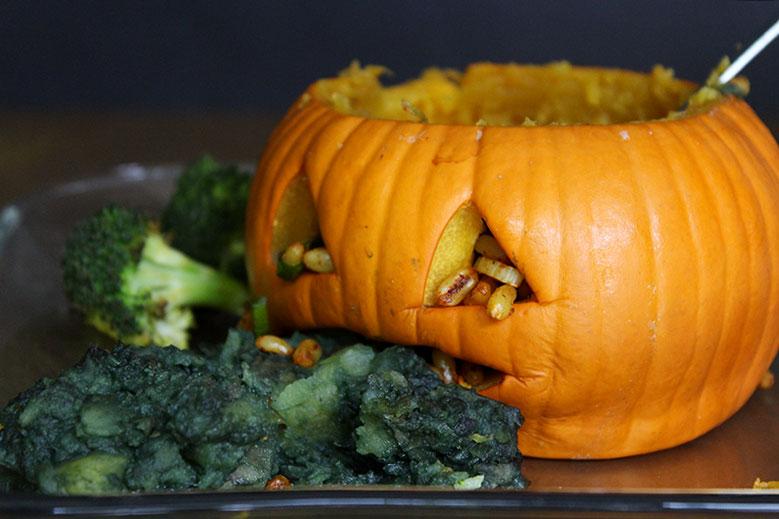 Vegan Halloween Pumpkin Bowls