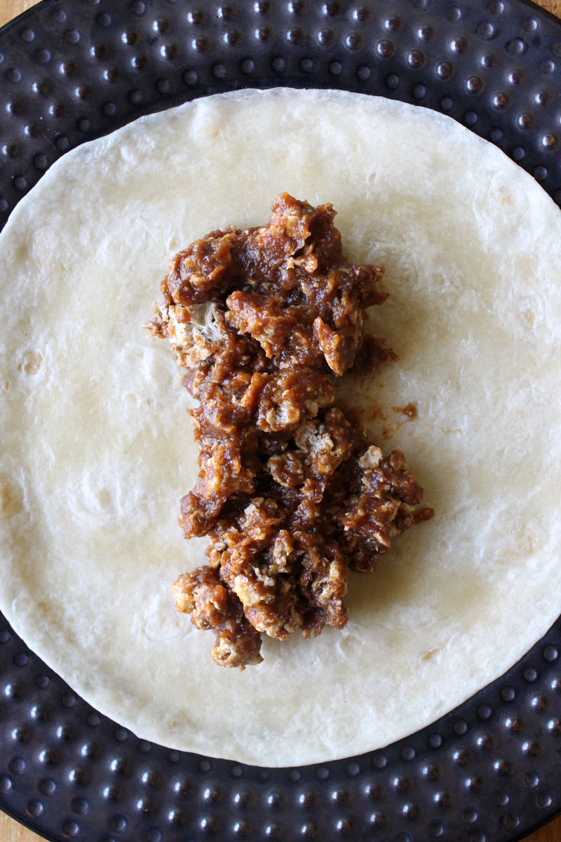 BBQ Popcorn Cauliflower Wraps