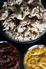 Raw Vegan Popcorn Cauliflower | Buffalo & BBQ Dipping Sauce