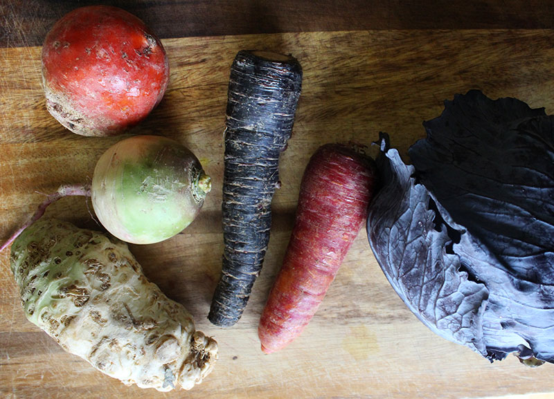 Winter Salad Veggies