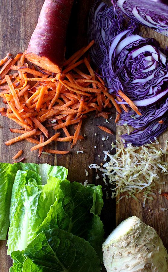 Fresh Spring Roll Vegetables