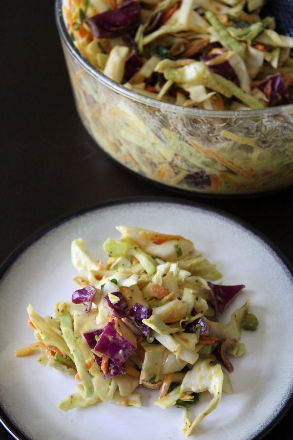 Vegan Curry Coleslaw