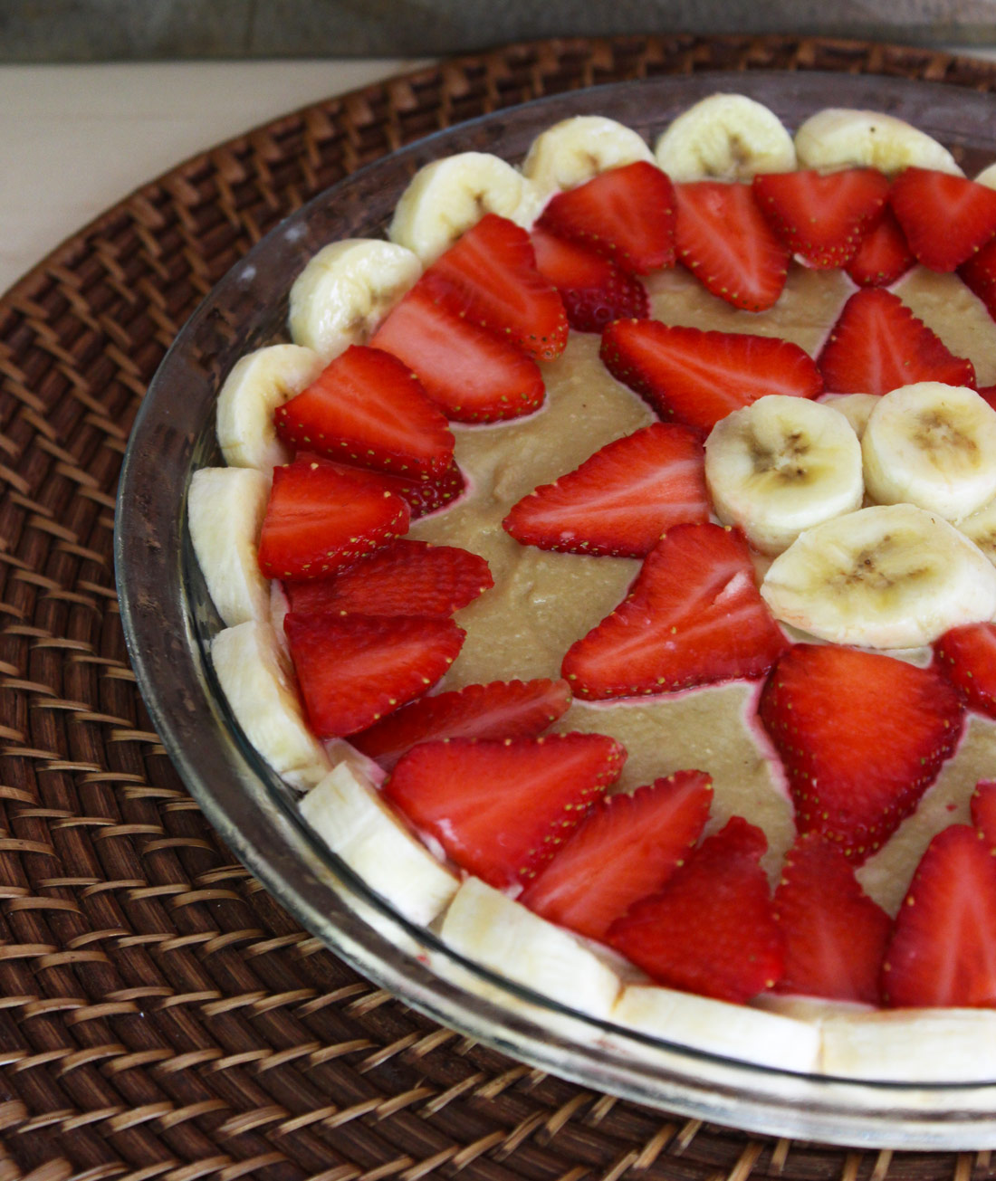 Raw Vegan Strawberry Banana Cream Pie