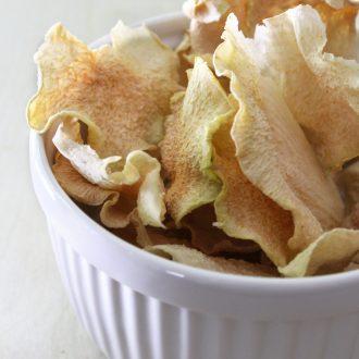 Sea Salt & Vinegar Kohlrabi Chips