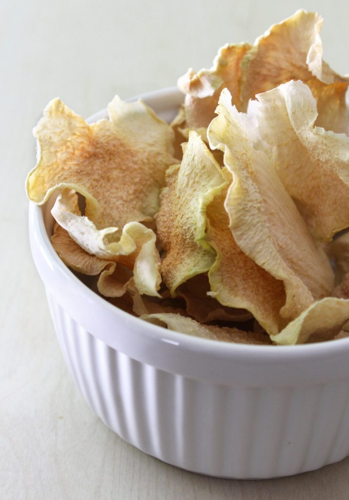 Sea Salt & Vinegar Kohlrabi Chips | Amanda Nicole Smith