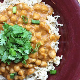 Sweet Potato Chana Masala | Vegan