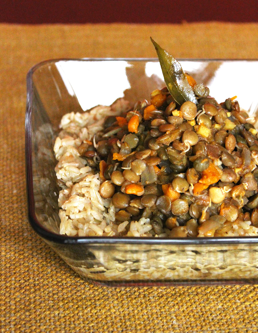 Sweet Potato Lentil Dal - Sprouted & Slow Cooked