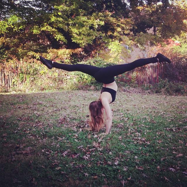 Handstand Split in the Grass