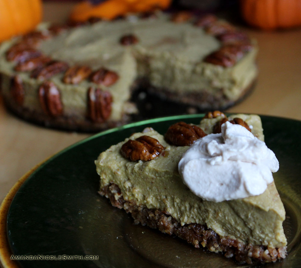 Raw Avocado Pumpkin Pie