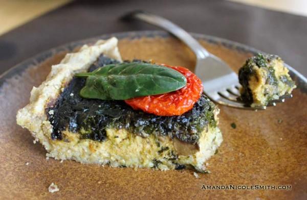 Mushroom Spinach Quiche-Bite