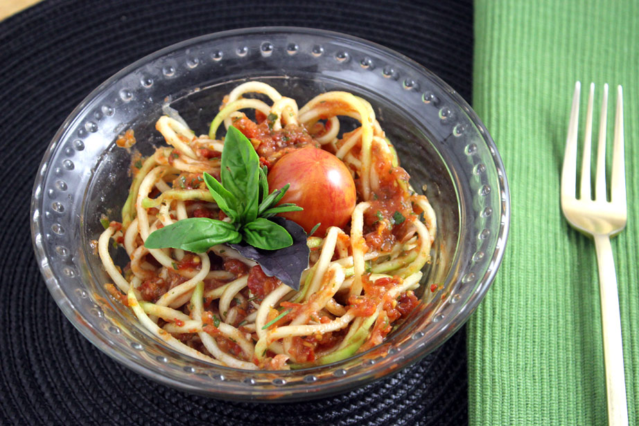 Raw Italian Pasta with Zucchini Noodles