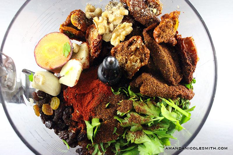 Raw Vegan Chili Ingredients