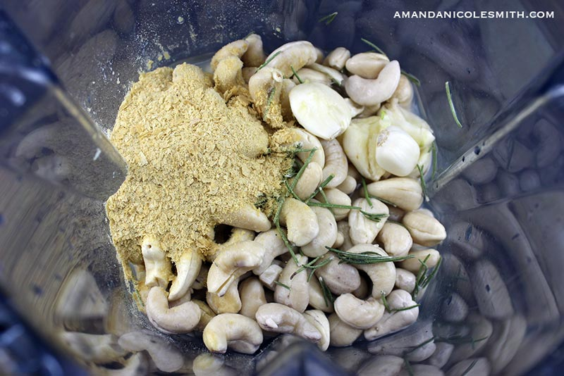 Raw Vegan Cashew Alfredo Sauce Ingredients