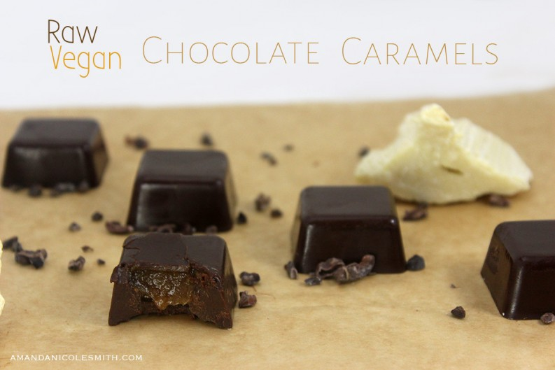 Raw Vegan Chocolate Caramel Chocolate