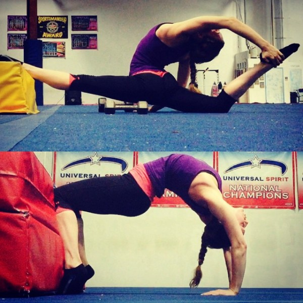 pre flexibility challenge split and backbend