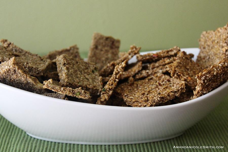 Sunchoke Sesame Seed Crackers