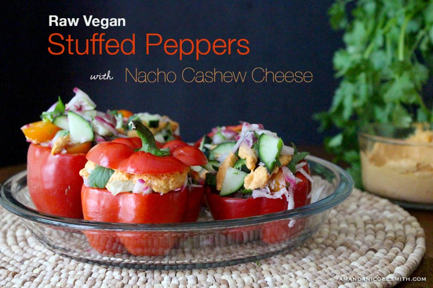 Raw Vegan Stuffed Peppers