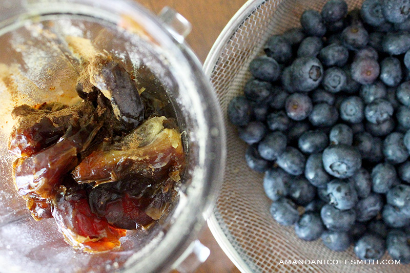 Raw Vegan Blueberry Pie Filling