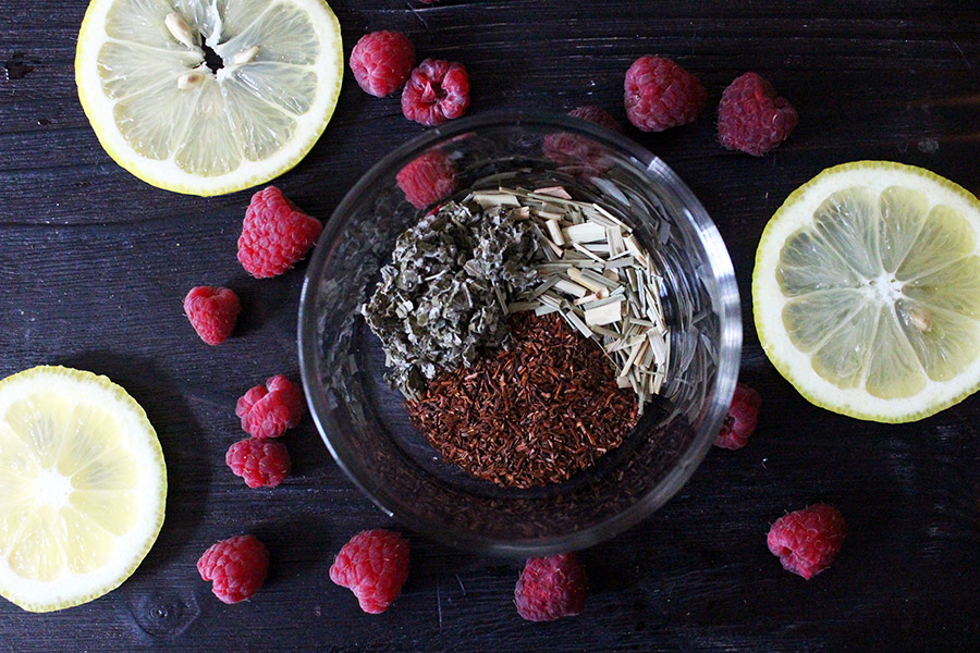 Lemon Raspberry Sweet Tea Ingredients