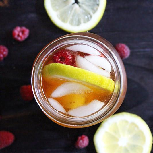 Simple Summer Sweet Lemon Raspberry Tea