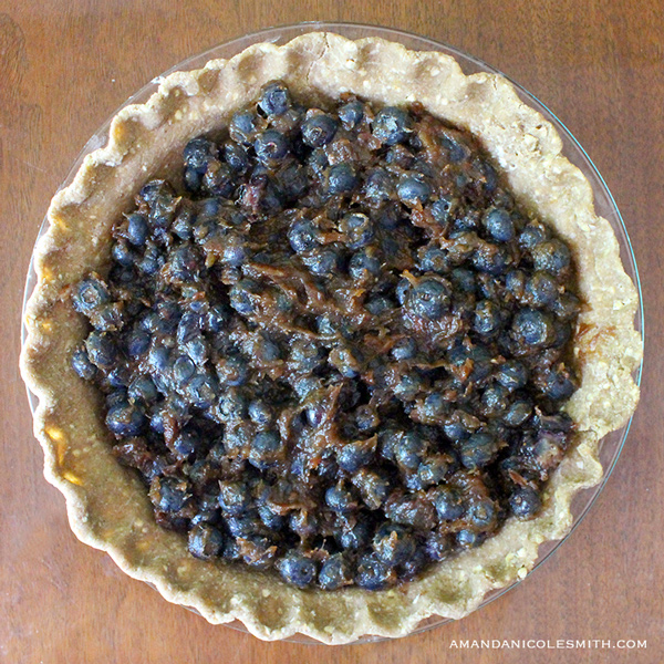 Raw Vegan Blueberry Pie